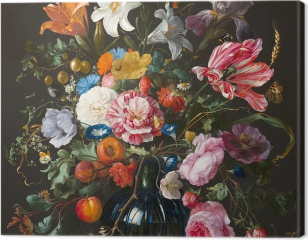 Leinwandbild Jan Davidsz - Vase of Flowers - Reproduktion