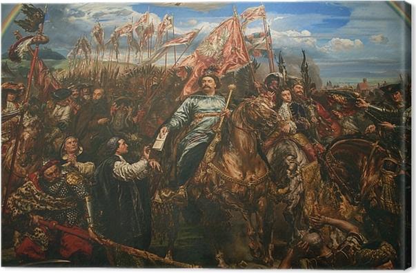 Leinwandbild Jan Matejko - Johann III. Sobieski sendet eine Botschaft des Sieges an den Papst nach der Schlacht von Wien (Fragment) -