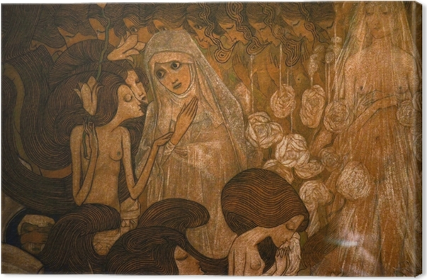 Leinwandbild Jan Toorop - Die drei Bräute II - Reproductions