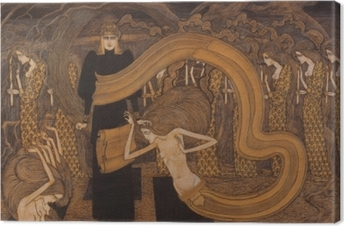 Leinwandbild Jan Toorop - Fatalismus