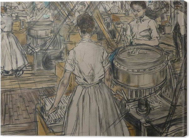 Leinwandbild Jan Toorop - Kerzenfabrik in Gouda, 1 - Reproductions