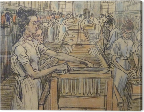 Leinwandbild Jan Toorop - Kerzenfabrik in Gouda, 2 - Reproductions