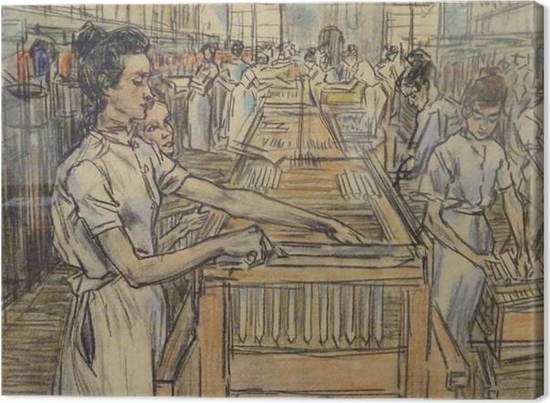 Leinwandbild Jan Toorop - Kerzenfabrik in Gouda, 2 - Reproductions
