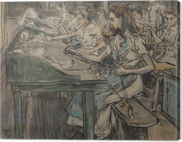 Leinwandbild Jan Toorop - Kerzenfabrik in Gouda, 3 - Reproductions