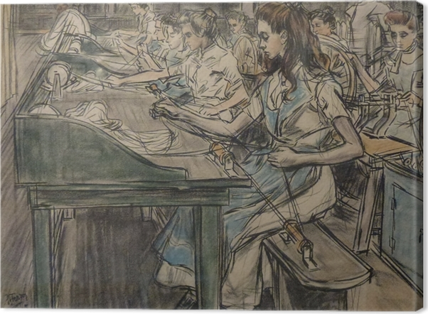 Leinwandbild Jan Toorop - Kerzenfabrik in Gouda, 3 - Reproductions