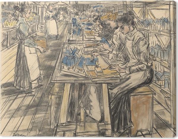 Leinwandbild Jan Toorop - Kerzenfabrik in Gouda, 5 - Reproductions