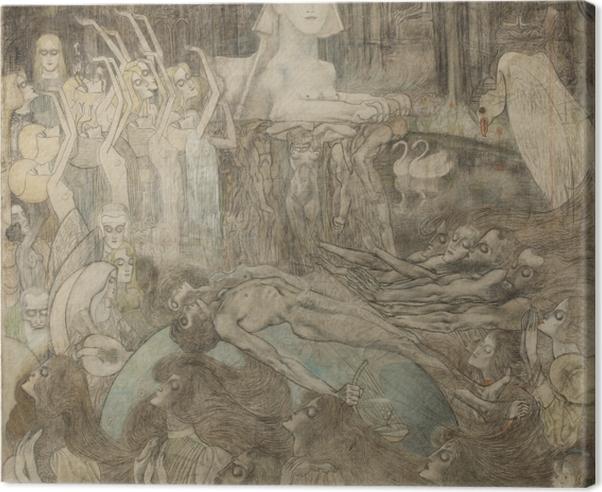 Leinwandbild Jan Toorop - Sphinx - Reproductions