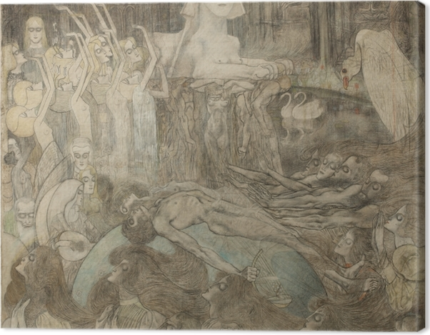 Leinwandbild Jan Toorop - Sphinx - Reproductions