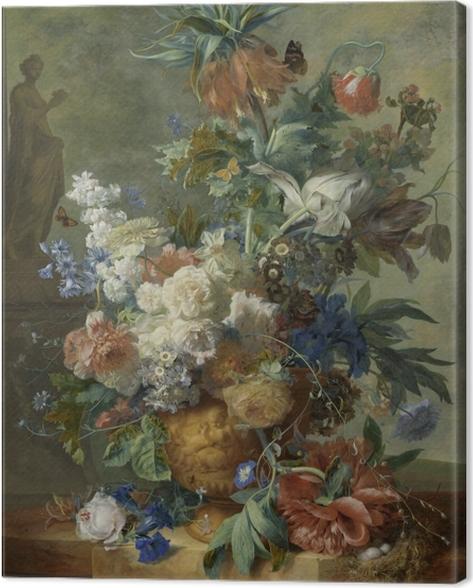 Leinwandbild Jan van Huysum - Still Life with Flowers - Reproduktion