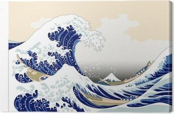 Leinwandbild Japan wave