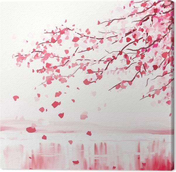 leinwandbild japanischer kirschbaum pixers wir leben um zu ver ndern. Black Bedroom Furniture Sets. Home Design Ideas