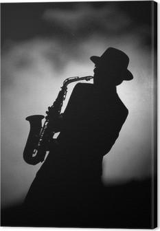 Leinwandbild Jazz sax