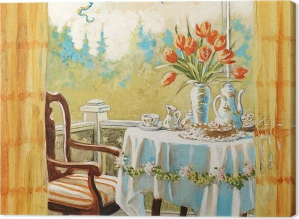 Leinwandbild Jenny Nyström - Aquarelle und Bleistift - Reproductions