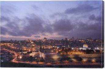 Leinwandbild Jerusalem Skyline
