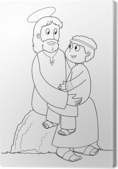 Groß Jesus Heilt Den Blinden Mann Färbung Seite Bilder - Ideen ...