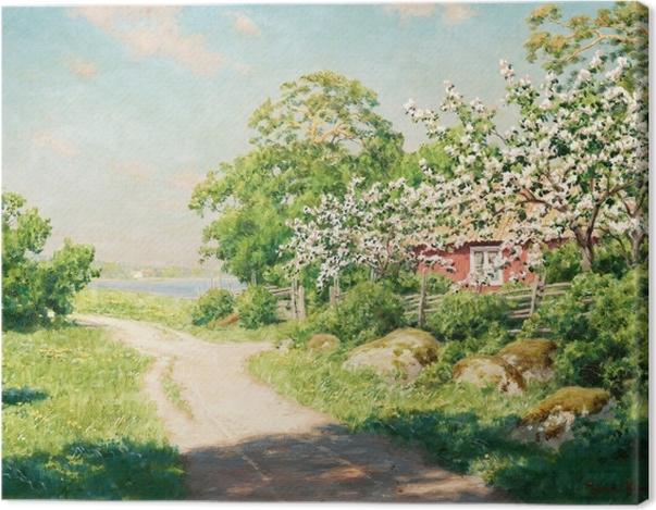 Leinwandbild Johan Krouthén - Landstraße - Reproductions