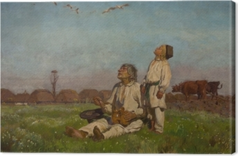 Leinwandbild Józef Chełmoński - Storche