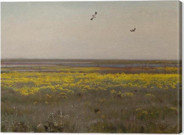 Leinwandbild Józef Chełmoński - Sumpf-Ringelblumen - Reproductions