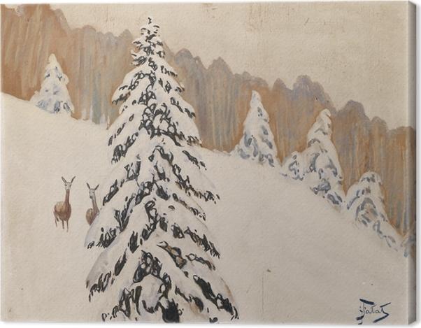 Leinwandbild Julian Fałat - Winter - Reproductions