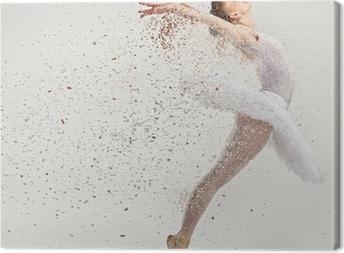 Leinwandbild Junge Ballerina Tänzerin in Tutu Durchführung auf pointes
