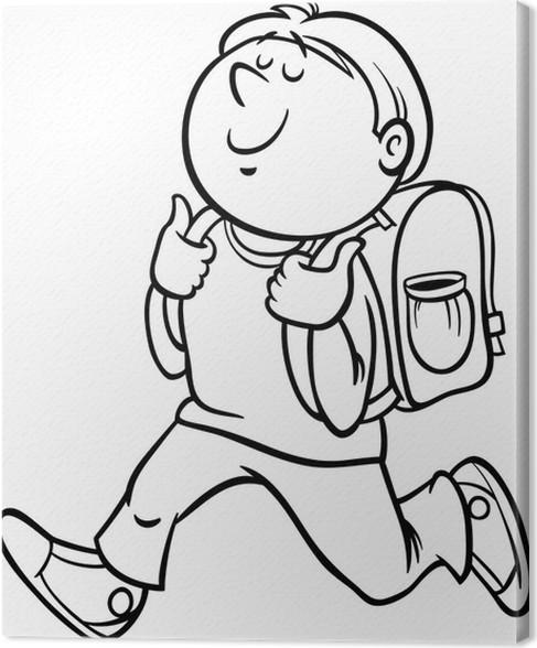 Leinwandbild Junge Grade Student Malvorlagen • Pixers® - Wir leben ...