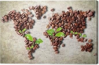 Leinwandbild Kaffee auf der ganzen Welt