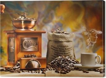 Leinwandbild Kaffee für Stillleben
