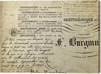 Leinwandbild Kalligraphie