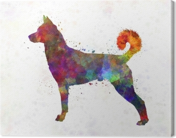 Leinwandbild Kananischer Hund in Aquarell