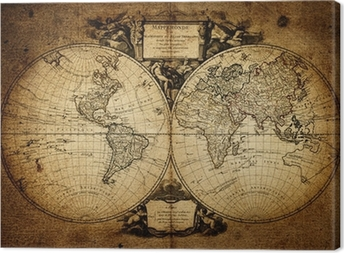 Leinwandbild Karte der Welt 1752