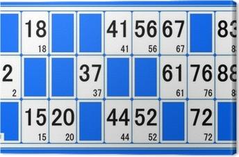 Leinwandbild Karton Lotto Nummer 1