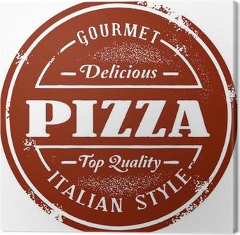 Leinwandbild Klassiker Pizza Stamp