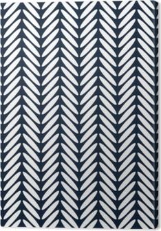 Leinwandbild Klassischer nahtloser Mustervektor des Fischgrätenmuster