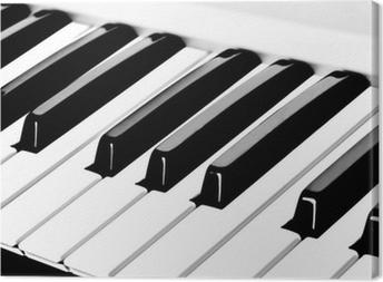 Leinwandbild Klaviertastatur