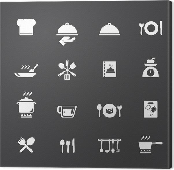 Leinwandbild Kochen und Küche Symbole • Pixers® - Wir leben, um zu ...