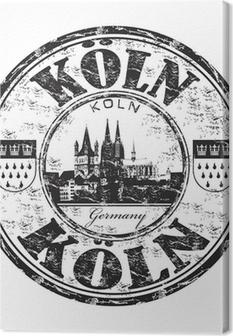 Leinwandbild Köln grunge Stempel