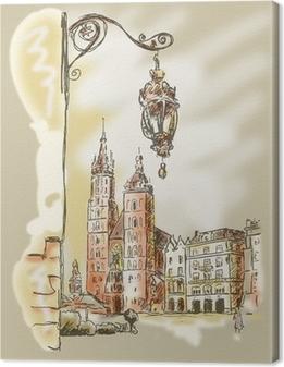 Leinwandbild Krakau Rynek