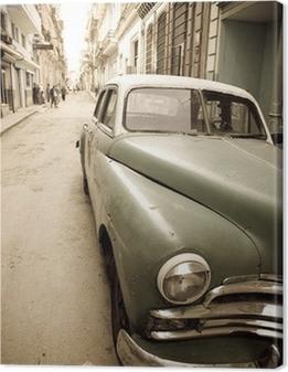 Leinwandbild Kubanische Oldtimer