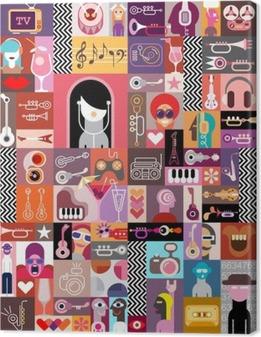 Leinwandbild Kunst-Collage / Kunst-Zusammensetzung