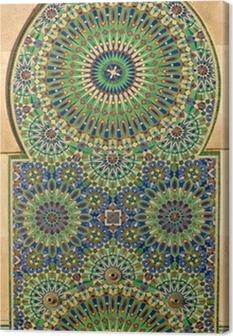 Leinwandbild Kunstvolle Mosaik auf einem marokkanischen Moschee