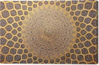 Leinwandbild Kuppel der Moschee, orientalische Ornamente aus Isfahan, Iran