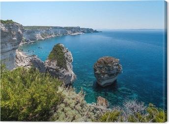 Leinwandbild Küste von Bonifacio, Korsika, Frankreich
