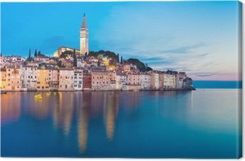 Leinwandbild Küstenstadt Rovinj, Istrien, Kroatien.