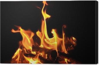 Leinwandbild Lagerfeuer, offenes Feuer, Flammen, Glut