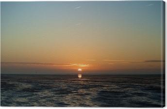 Leinwandbild Landschaft am Nordseedeich