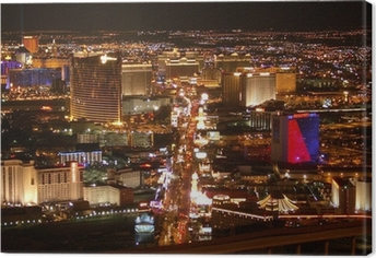 Leinwandbild Las Vegas Strip bei Nacht