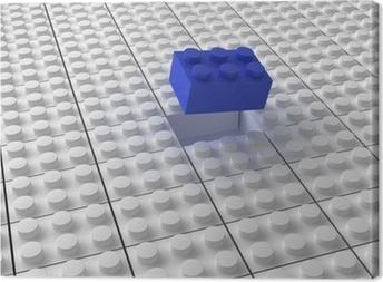 Leinwandbild Lego Hintergrund bw