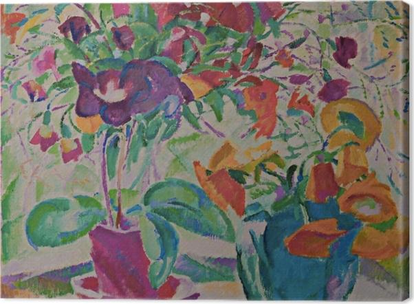 Leinwandbild Leo Gestel - Blumenstrauß im Fenster - Reproductions