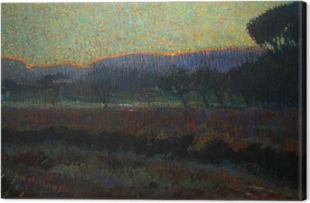 Leinwandbild Leo Gestel - Tal mit Bäumen - Reproductions