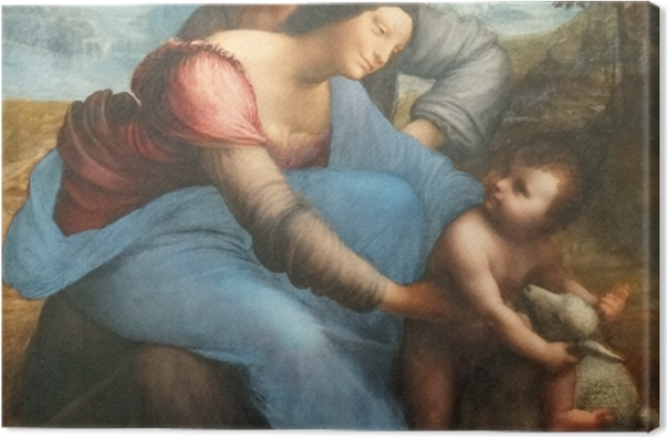 Leinwandbild Leonardo da Vinci - Anna selbdritt - Reproduktion